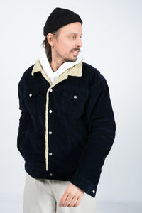 Vintage 90's Chaps Corduroy Shearling Workwear jacket in Black - L