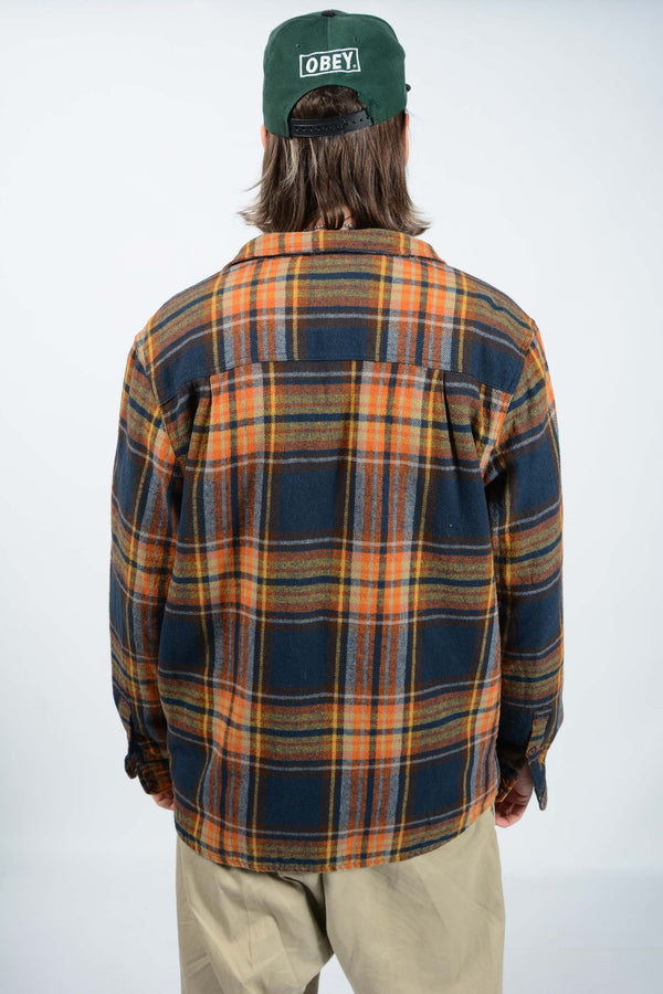 Vintage 90's Shearling Workwear Skacket Check Jacket - XL