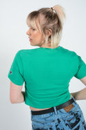 Vintage Rework Cropped Champion T-shirt Green - S