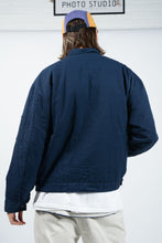 Load image into Gallery viewer, Vintage Workwear Bomber Skater Jacket Blue  - XL