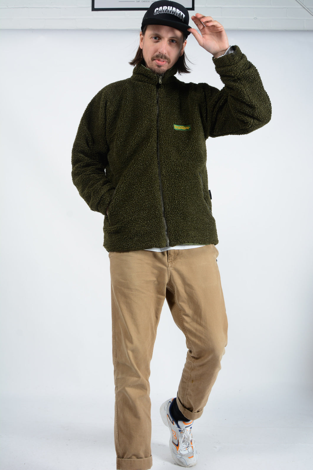 Vintage Shearling Fleece jacket in Green - L
