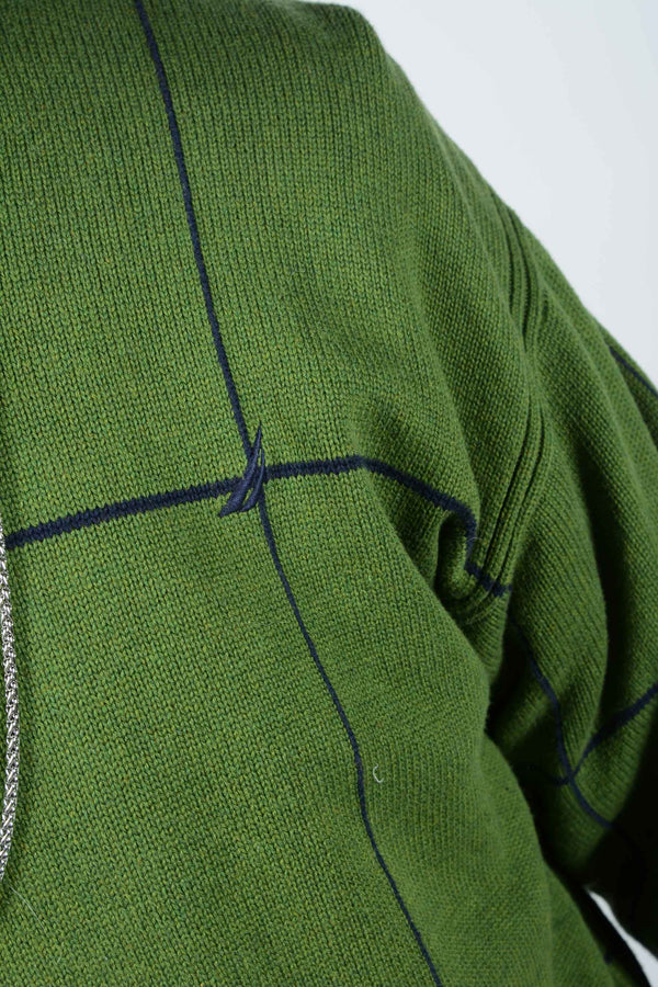 Vintage 90s Nautica Oversized Jumper in Green - XL