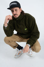 Load image into Gallery viewer, Vintage Shearling Fleece jacket in Green - L