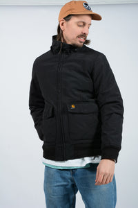 Vintage 90s Carhartt Workwear Outdoor Jacket in Black - M