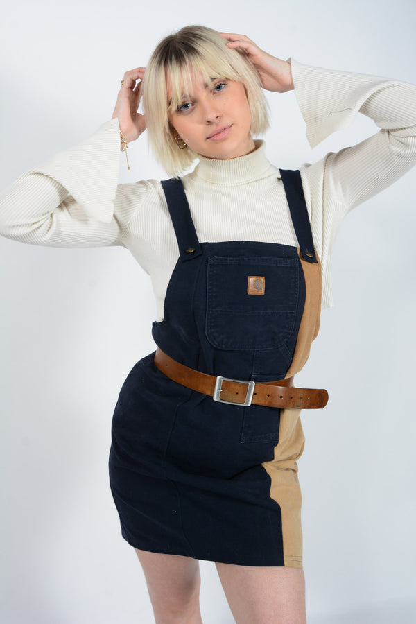 Reworked Carhartt Utility Pinafore Dress - M/L