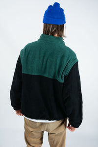 Vintage Mountain Dew Fleece with Removable Arms - L