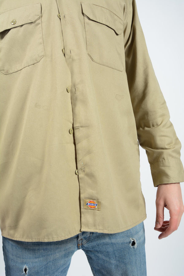 Vintage Dickies Shirt Workwear Beige - L
