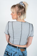 Vintage Dickies Rework Reverse Weave Crop Top - S/M