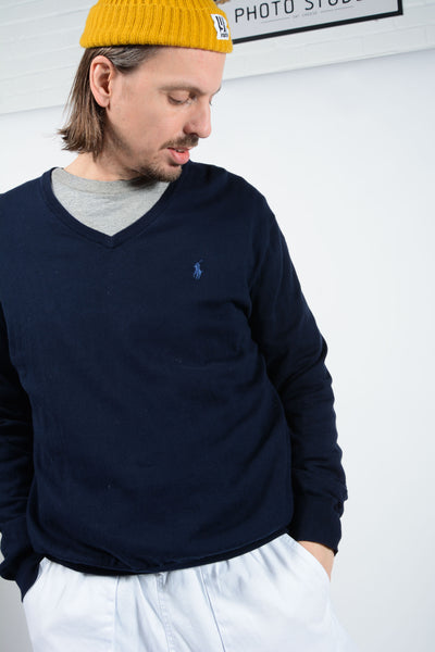 Vintage Polo Ralph Lauren Jumper in Blue - L