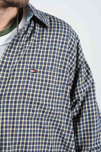Vintage Tommy Hilfiger Check Shirt with Logo - XL