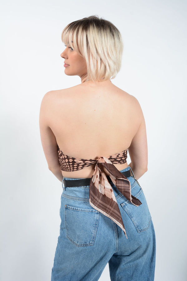 Reworked Satin Tie-Back Top - One Size