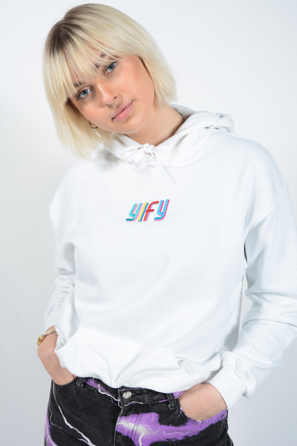 YIFY Hoodie with Shadow Embroidery Multi Colour Logo