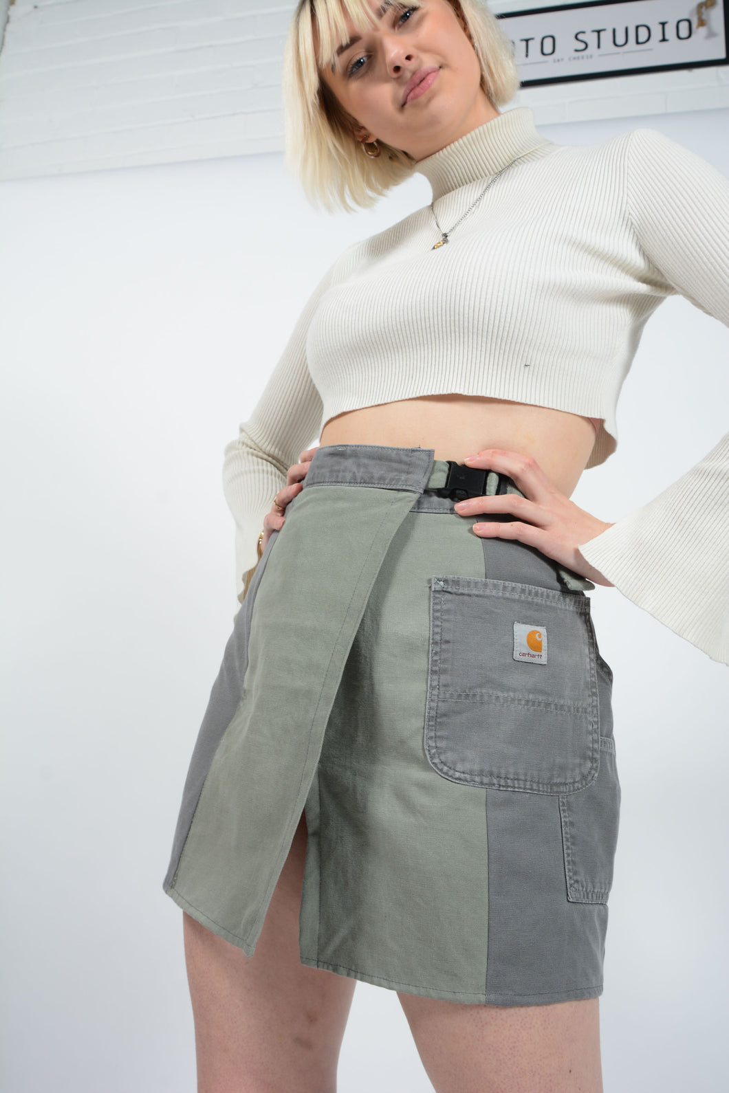 Reworked Dickies Utility Workwear Skirt - 27-32