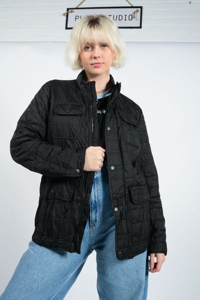 Vintage Tommy Hilfiger Outdoor Jacket in Black - M
