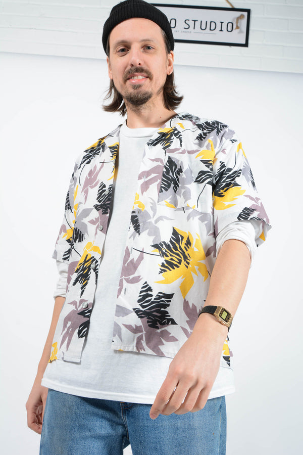 Vintage Shirt Hawaiian Skater White - M