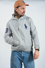 Load image into Gallery viewer, Vintage Polo Ralph Lauren Hoodie in Grey - L
