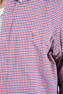 Vintage Ralph Lauren Shirt Check Logo Red - XL