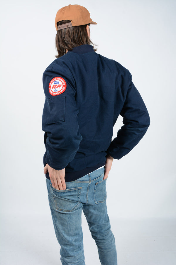Vintage 90's Jacket Workwear Padded Blue - M