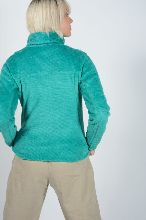 Vintage Patagonia 1/4 Buttoned Fluffy Fleece in Turquoise - M