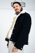 Load image into Gallery viewer, Vintage 90's Chaps Corduroy Shearling Workwear jacket in Black - L