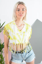 Load image into Gallery viewer, Festival tie-dye frill top