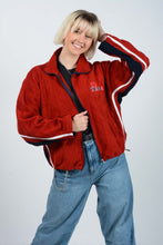 Load image into Gallery viewer, Vintage 90s Zip Up Fleece in Red With Canada Logo - L