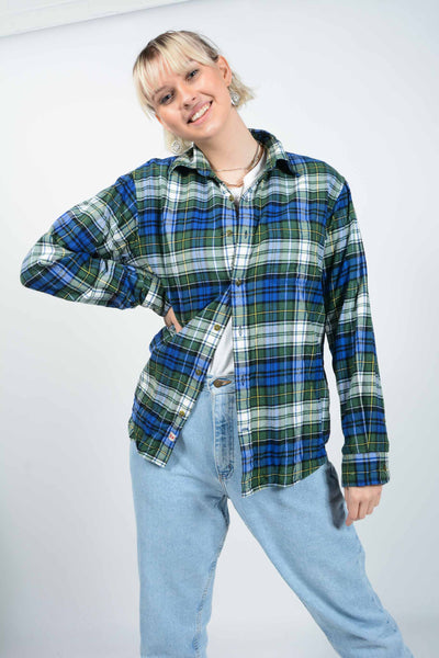 Vintage Dickies Blue Check Shirt