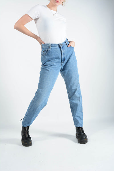 Vintage High Waist Jeans in Blue