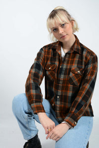 Vintage 90's Dickies Shirt Workwear Flannel -L