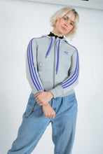 Load image into Gallery viewer, Vintage Adidas Hoodie in Grey with Logo
