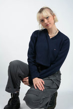 Load image into Gallery viewer, Vintage 90's Tommy Hilfiger Jumper Cropped Reworked Blue - M