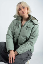Load image into Gallery viewer, Vintage 90's Fila Puffer Jacket Green - L