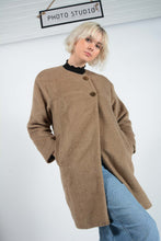 Load image into Gallery viewer, Vintage Coat with 60's Style Fit in Brown - M