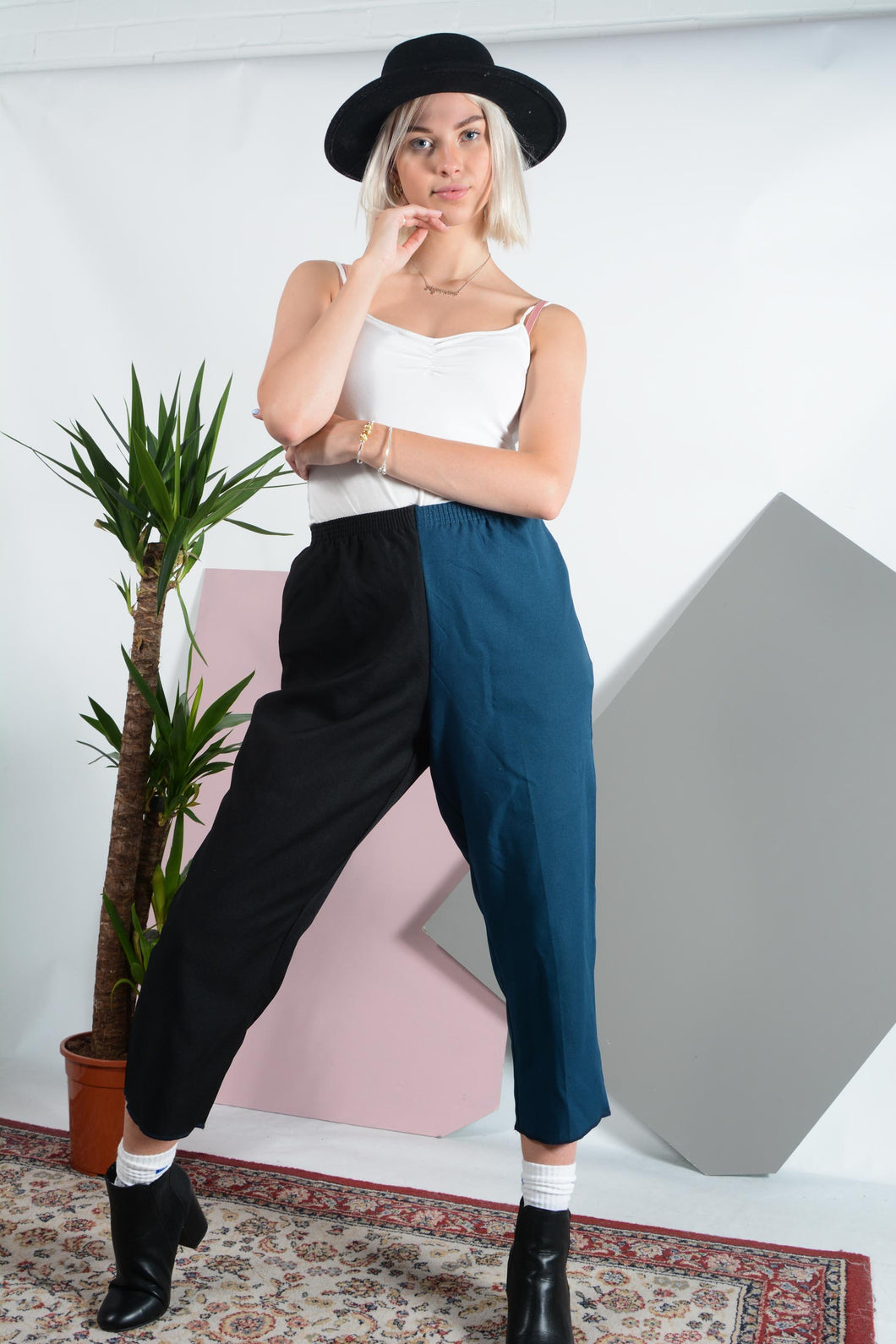 Reworked split casual trousers