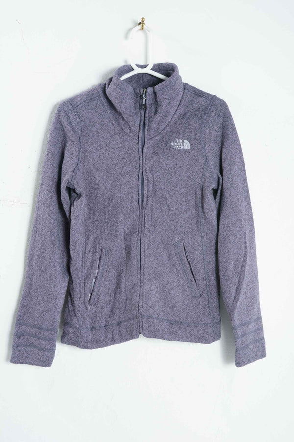 Vintage North Face Fleece in Grey with Logo - S