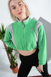 The North Face fleece in green with elasticated waist