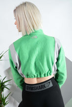 Load image into Gallery viewer, The North Face fleece in green with elasticated waist