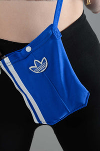 Reworked Adidas side bag in blue