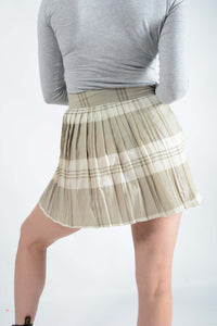Rework Vintage Tartan Pleat Skirt