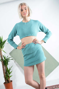 Reworked elasticated 2-piece in green