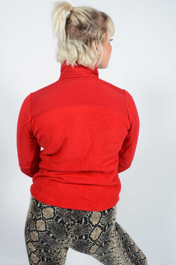 Vintage Fleece Jacket Loungewear Red - M