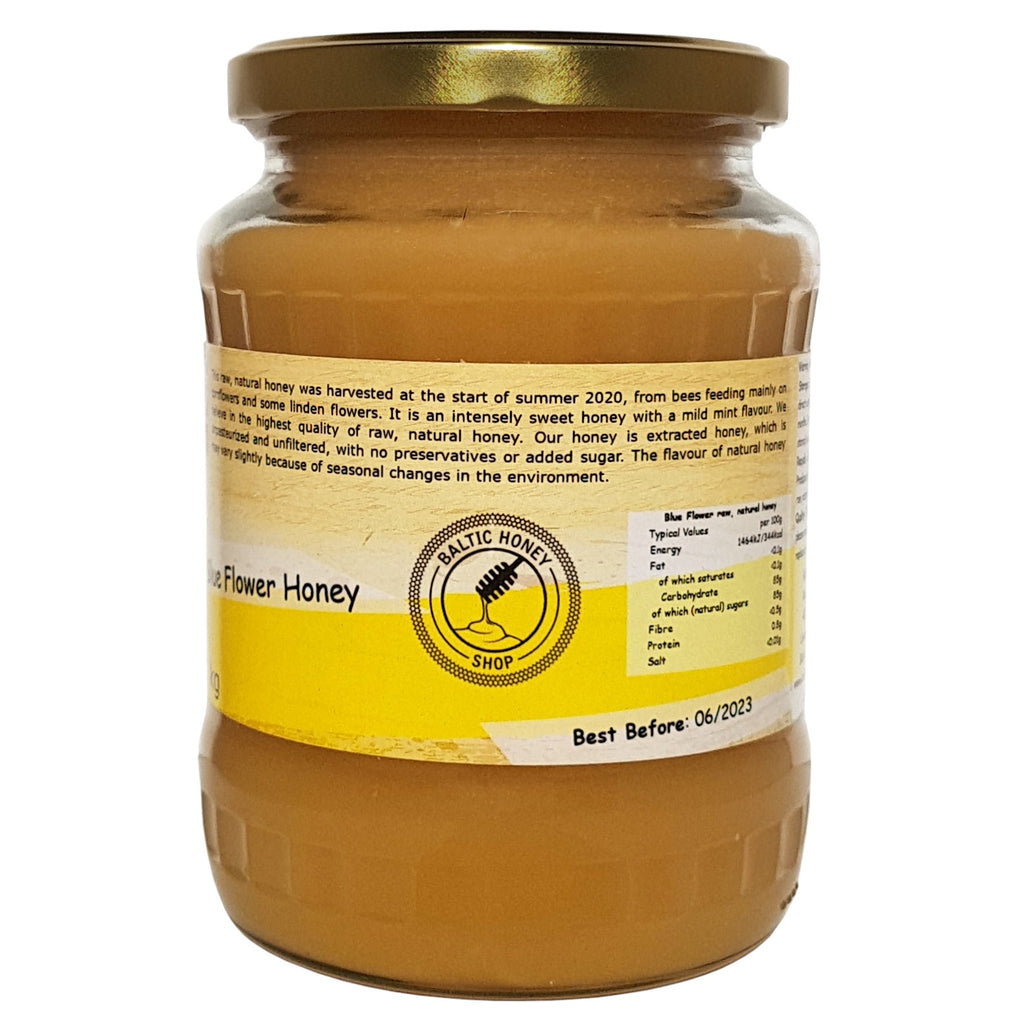 Raw Blue Flower Honey (1 kg)