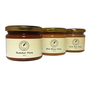 Raw Dark Honey Selection (3 x 400 g)