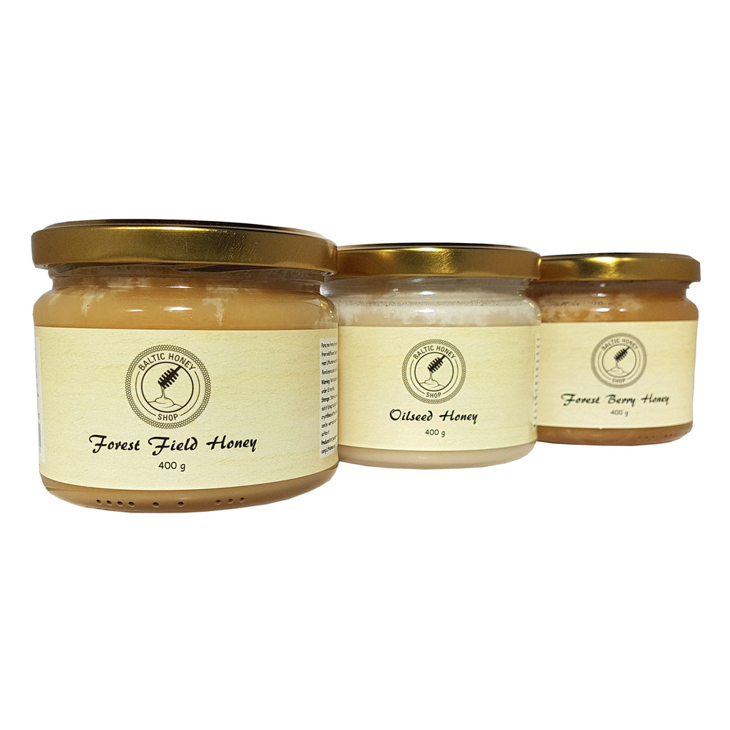Raw Honey Gift Selection (3 x 400 g)