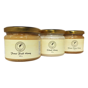 Raw Light Honey Selection (3 x 400 g)