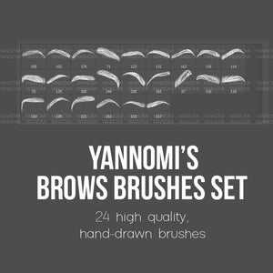 Yannomi's Brushes - eyebrows v.1