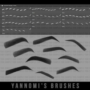 Yannomi's Brushes - eyebrows v.2