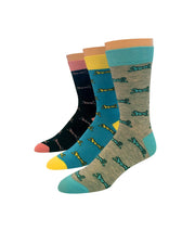 Logo 3pk Dress Socks