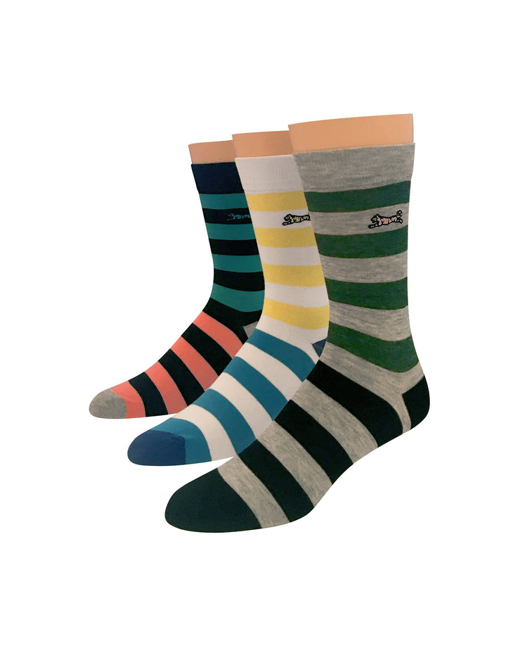 Multi Striped 3pk Dress Sock