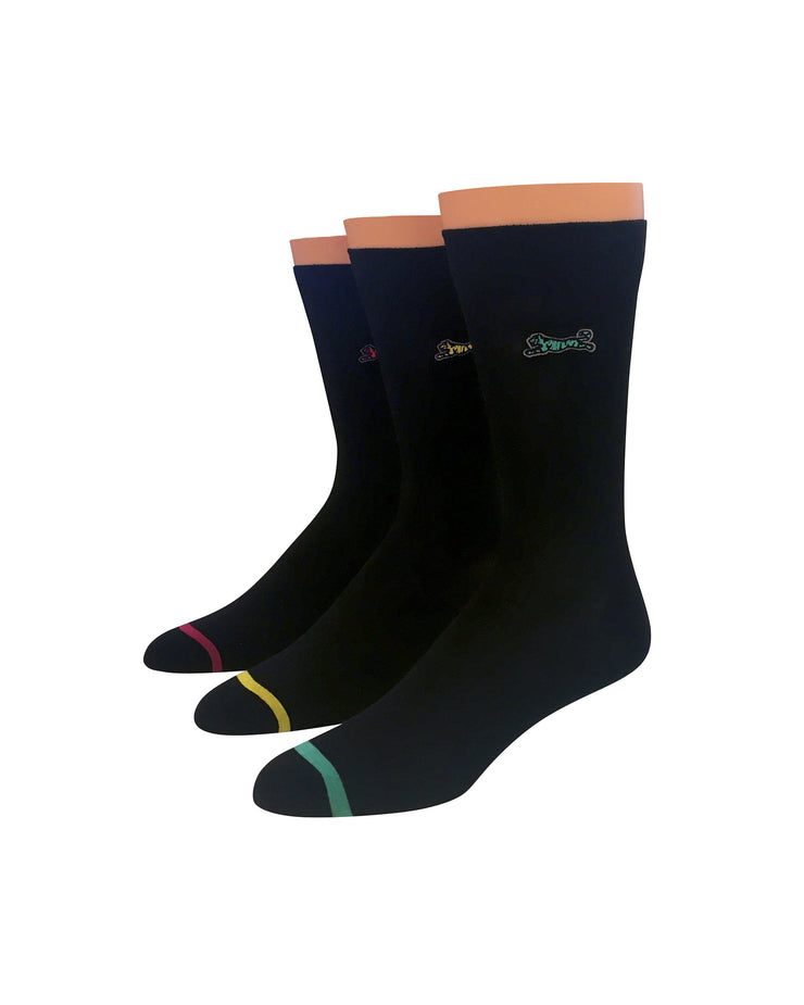 Solid 3pk Dress Socks